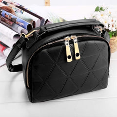 Women Fashion Synthetic Leather Small Solid Candy Color Handbag Cross Body Shoulder Bags - Oh Yours Fashion - 2