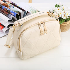 Women Fashion Synthetic Leather Small Solid Candy Color Handbag Cross Body Shoulder Bags - Oh Yours Fashion - 3