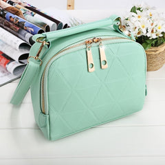 Women Fashion Synthetic Leather Small Solid Candy Color Handbag Cross Body Shoulder Bags - Oh Yours Fashion - 4