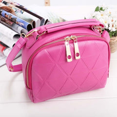 Women Fashion Synthetic Leather Small Solid Candy Color Handbag Cross Body Shoulder Bags - Oh Yours Fashion - 5