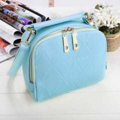 Women Fashion Synthetic Leather Small Solid Candy Color Handbag Cross Body Shoulder Bags - Oh Yours Fashion - 6