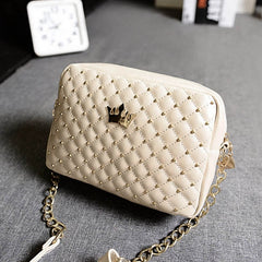 Fashion Candy Color Women's Artificial Leather Rivet Chain Embossed Messenger Bags Satchel Shoulder/Hand Bag - Oh Yours Fashion - 7