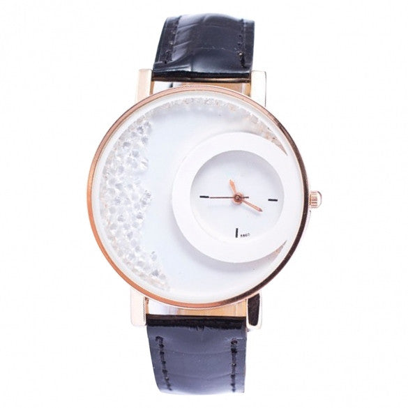 5 Colors Synthetic Leather Strap Analog Quartz Wrist Watch - Oh Yours Fashion - 2