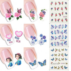 50 Sheets/set 3D Design Nail Art Tips Decoration Print Water Transfer Nail Stickers Manicure Decals - Oh Yours Fashion - 2