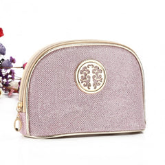 Women Portable Travel Bling Bling Zipper Cosmetic Makeup Bag Toiletry Case - Oh Yours Fashion - 1