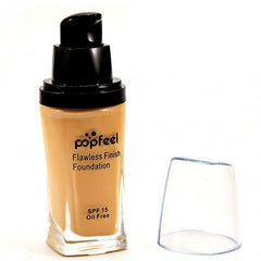 6 Colors Flawless Finish Liquid Foundation SPF15 Oil Free Cosmetic Face Concealer Bronzer Highlighter BB Cream Makeup - Oh Yours Fashion - 4