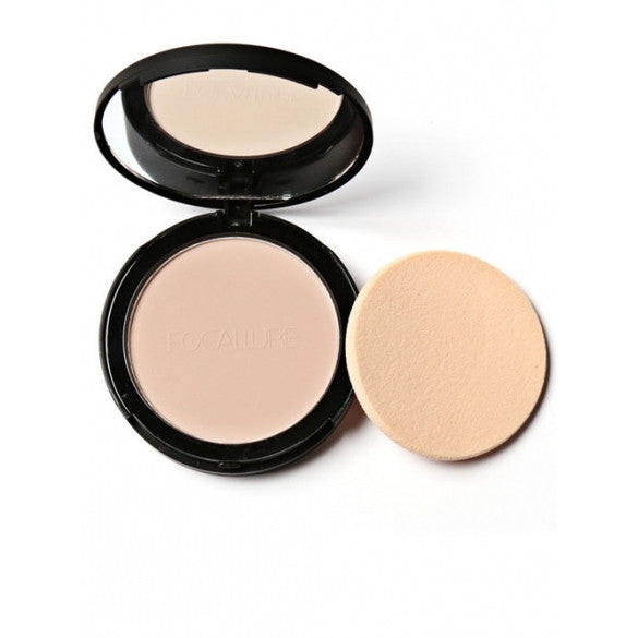 3 Colors Face Powder Bronzer Highlighter Shimmer Face Pressed Powder Contour Makeup Cosmetics With Mirror And Puff - Oh Yours Fashion - 1