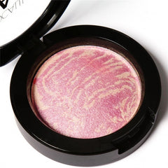 6 Colors Cheek Makeup Baked Blush Bronzer Blusher With Blush Brush - Oh Yours Fashion - 2