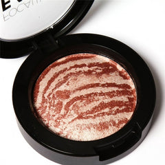 6 Colors Cheek Makeup Baked Blush Bronzer Blusher With Blush Brush - Oh Yours Fashion - 5