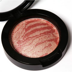 6 Colors Cheek Makeup Baked Blush Bronzer Blusher With Blush Brush - Oh Yours Fashion - 7