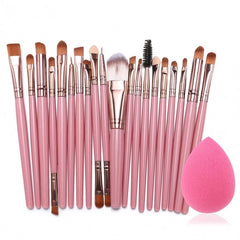 20pcs Makeup Brushes Kit Powder Foundation Eyeliner Eyeshadow Lip Brush Comestic Tool - Oh Yours Fashion - 3