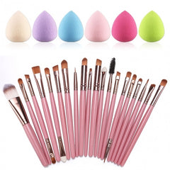 20pcs Makeup Brushes Kit Powder Foundation Eyeliner Eyeshadow Lip Brush Comestic Tool - Oh Yours Fashion - 1