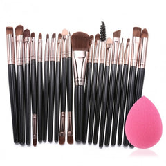 20pcs Makeup Brushes Kit Powder Foundation Eyeliner Eyeshadow Lip Brush Comestic Tool - Oh Yours Fashion - 4