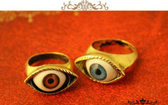 Retro exaggerated blue eye ring - Oh Yours Fashion - 4