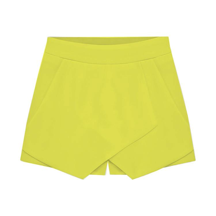 Cross Over High Waist Pure Color Shorts - Meet Yours Fashion - 8