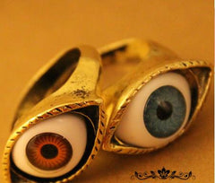 Retro exaggerated blue eye ring - Oh Yours Fashion - 2
