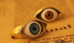 Retro exaggerated blue eye ring - Oh Yours Fashion - 3