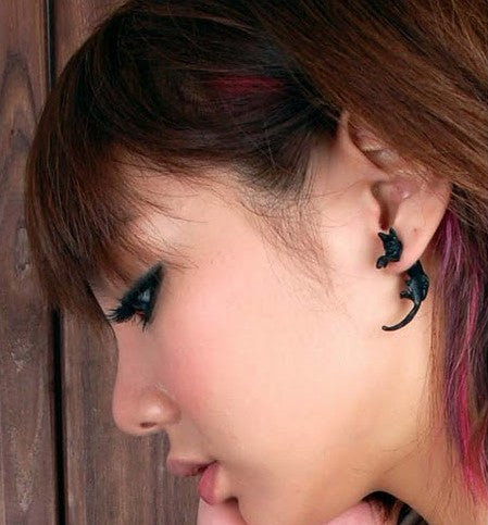 Long Tail Cat Through Single Earring - Oh Yours Fashion - 2
