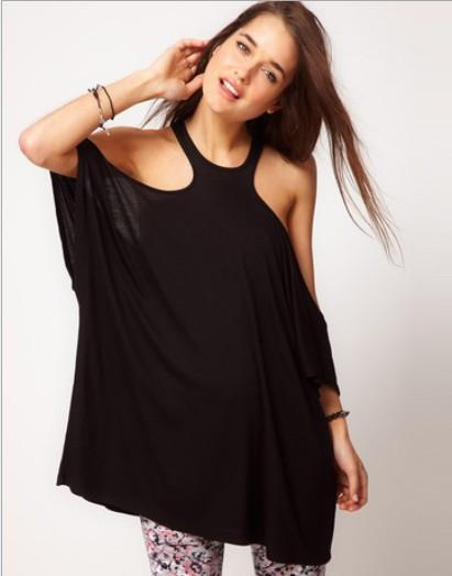 H-shaped Sleeveless Off-shoulder Casual Short Sleeves Short Blouse - Meet Yours Fashion - 4