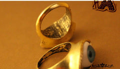 Retro exaggerated blue eye ring - Oh Yours Fashion - 5