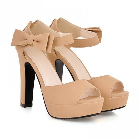 Sweet Candy Color Bow Knot Thick Heel Platform Sandals - MeetYoursFashion - 8