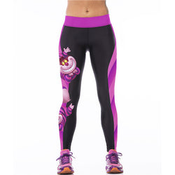 Cartoon Print Elastic Bodycon Yoga Pants For Women - O Yours Fashion - 1