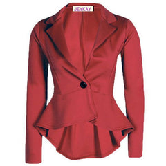 Solid Color Irregular Flounced Women¨¹s Blazer - O Yours Fashion - 3