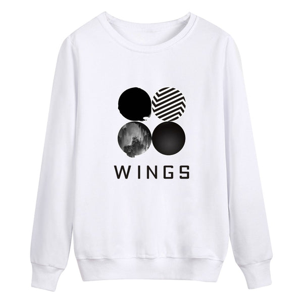 Letters Circle Print Scoop Loose Sweatshirt