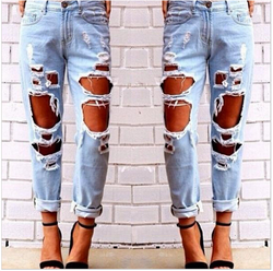 Big Holes Ripped Beggar BY Style Sexy Jeans - Oh Yours Fashion - 2