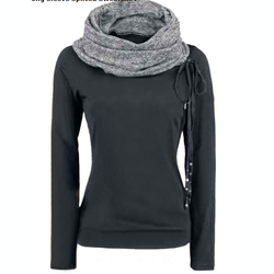 Casual High Turtleneck Sweats Hoodie - O Yours Fashion