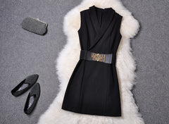 V-neck Sleeveless Mini Tank Dress - Oh Yours Fashion - 6