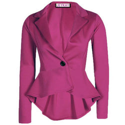 Solid Color Irregular Flounced Women¨¹s Blazer - O Yours Fashion - 1
