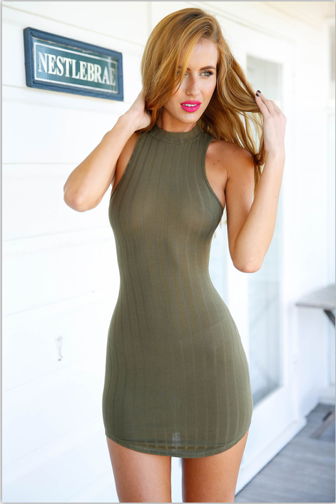Sexy Hollow Out Back Sleeveless Short Bodycon Dress - Oh Yours Fashion - 5