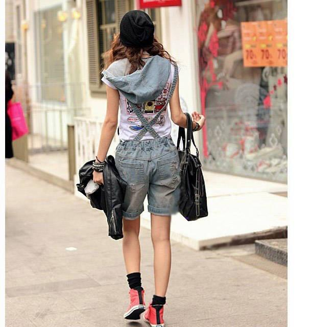 Retro Hole Zipper V-neck Casual Cap Sleeveless Jumpsuits - Meet Yours Fashion - 7
