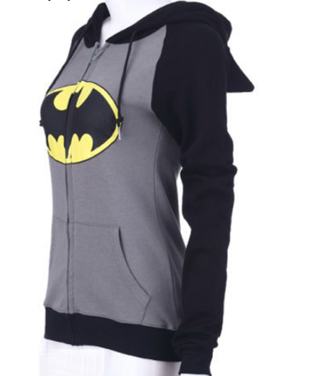 Batman Print Zip Up Women Hoodie - MeetYoursFashion - 3