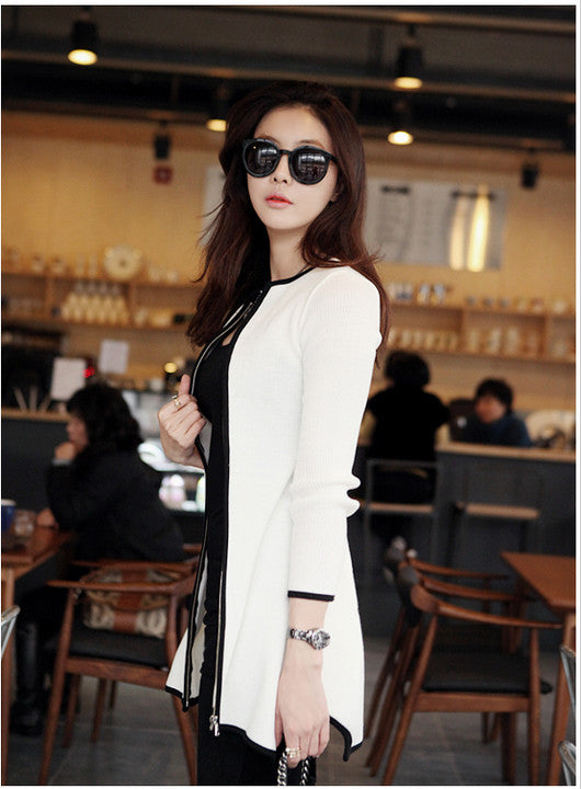 Sexy V-neck Knit Long Cardigan Outwear - Oh Yours Fashion - 4