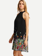 Sleeveless Halter Pleated Loose Dress - Oh Yours Fashion - 4