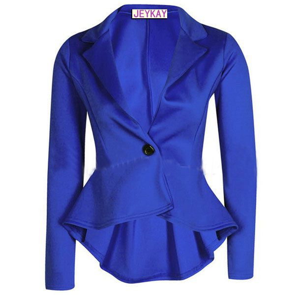 Solid Color Irregular Flounced Women¨¹s Blazer - O Yours Fashion - 2
