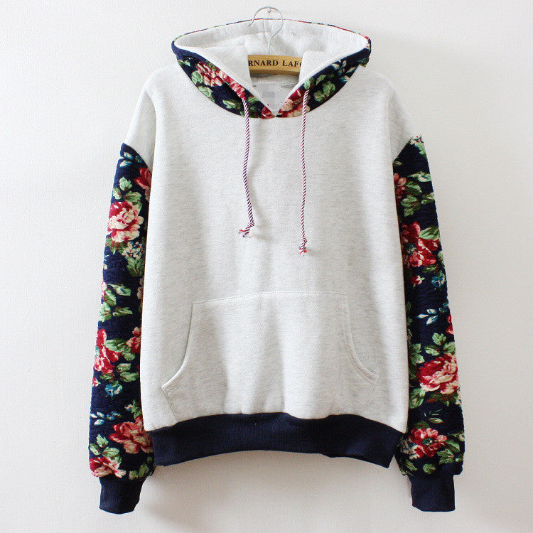 Print Retro Pullover Long Sleeve Loose Hoodie - Oh Yours Fashion - 2