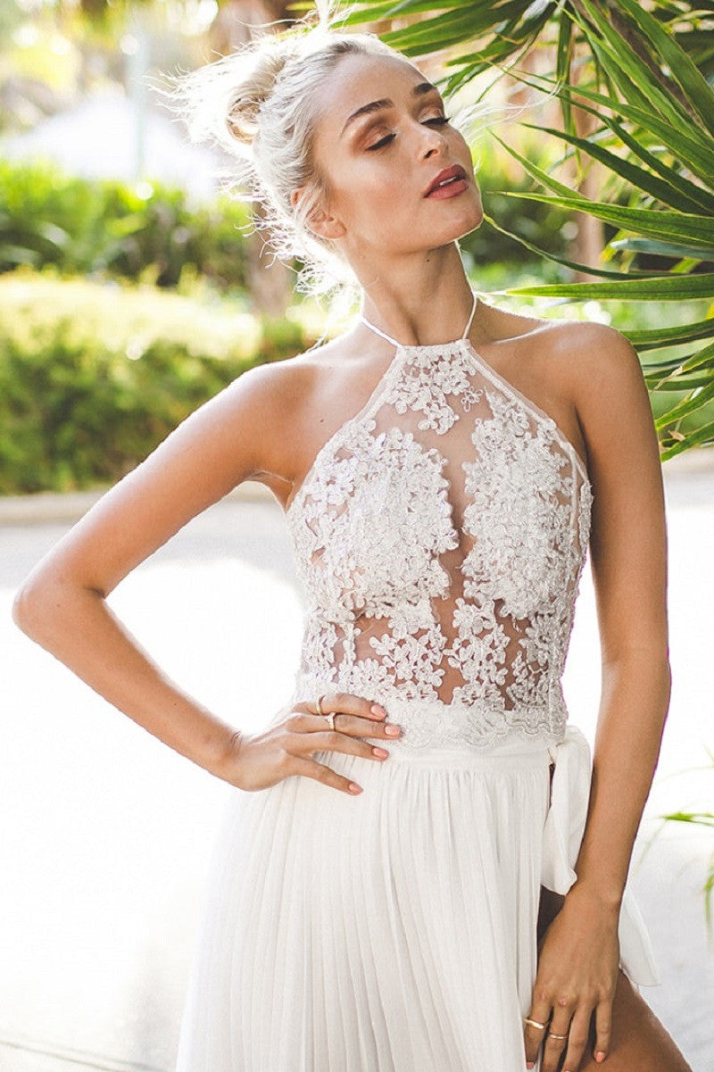 Sexy Lace Patchwork Halter Vest Crop Top - Oh Yours Fashion - 8