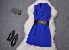 V-neck Sleeveless Mini Tank Dress - Oh Yours Fashion - 4