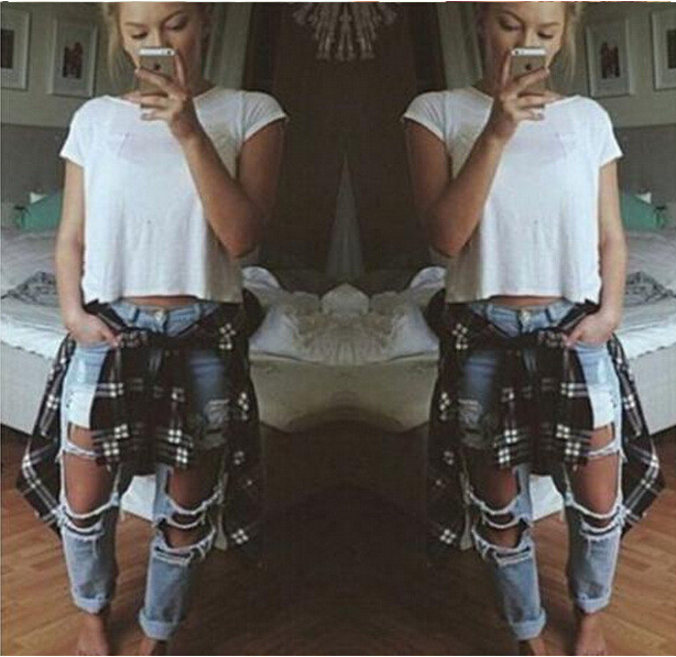 cad6981a Big Holes Ripped Beggar BY Style Sexy Jeans - Oh Yours Fashion - 5