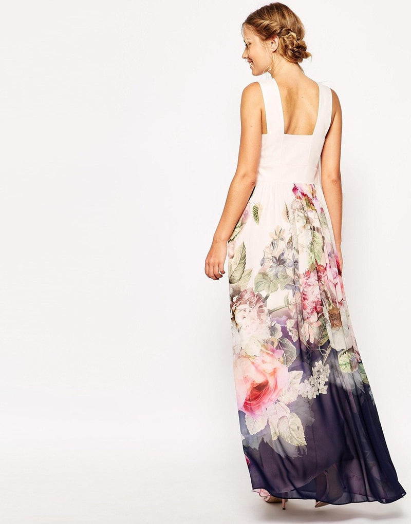 Floral Sleeveless Evening Party Long Maxi Dress - Oh Yours Fashion - 6