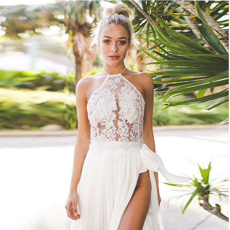 Sexy Lace Patchwork Halter Vest Crop Top - Oh Yours Fashion - 1