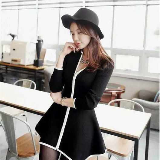 Sexy V-neck Knit Long Cardigan Outwear - Oh Yours Fashion - 2