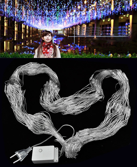 Colorful 300 LED Net Mesh Decorative Fairy Lights Twinkle Lighting Christmas Wedding Party EU
