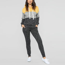 Autumn Winter Tracksuit Suit Long Sleeves Thicken Hooded Sweatshirts Trousers 2Pcs Set Sport Suit Female Sports Set