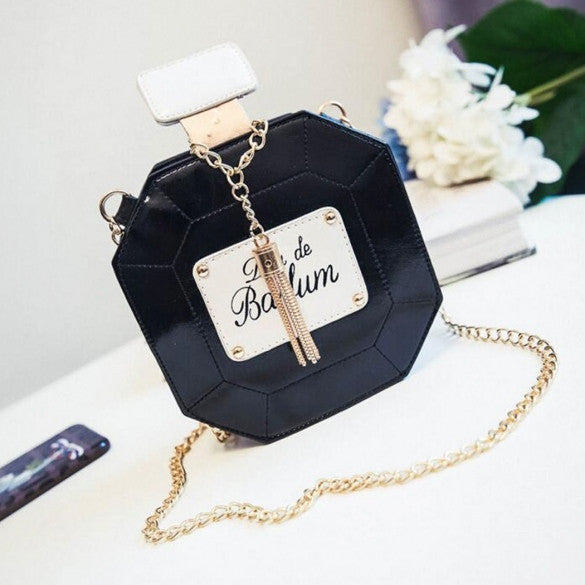 New Fashion Women Synthetic Leather Chain Tassel Handbag Shoulder Bag - Oh Yours Fashion - 1