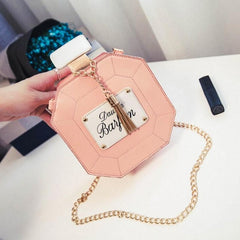New Fashion Women Synthetic Leather Chain Tassel Handbag Shoulder Bag - Oh Yours Fashion - 4