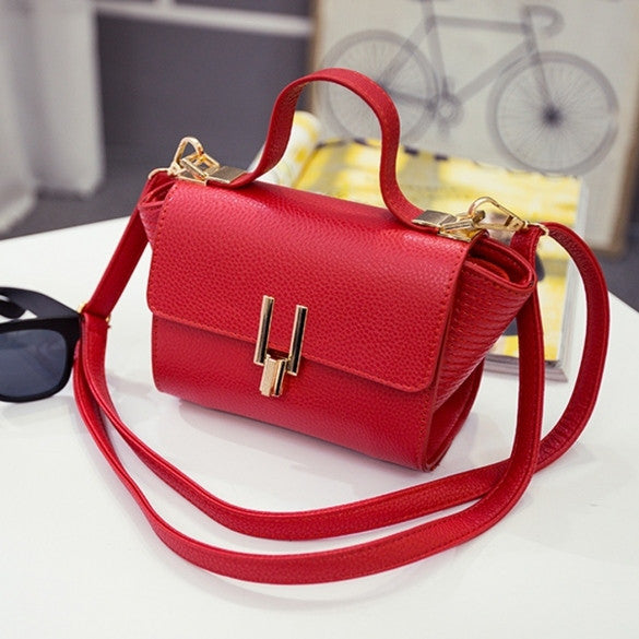 New Women Handbag Synthetic Leather Flap Bag Casual Party Soft Shoulder Bag Messenger Bag - Oh Yours Fashion - 1